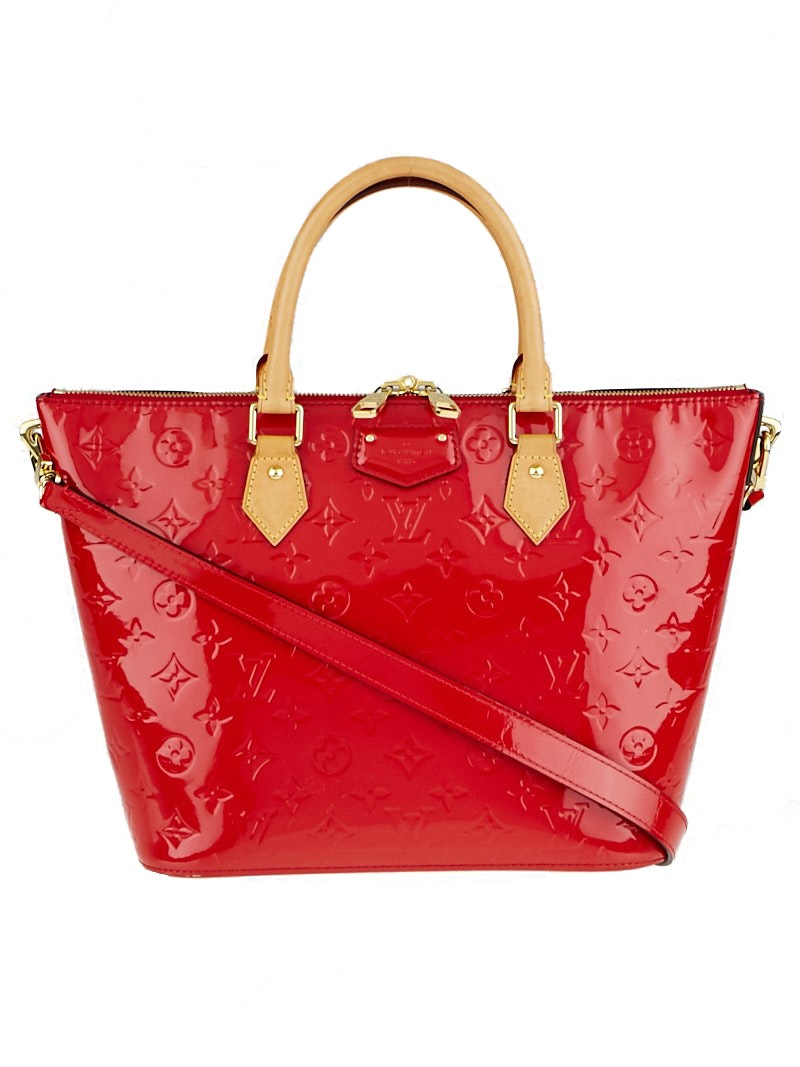 Louis Vuitton Reade Monogram Vernis MM Cerise