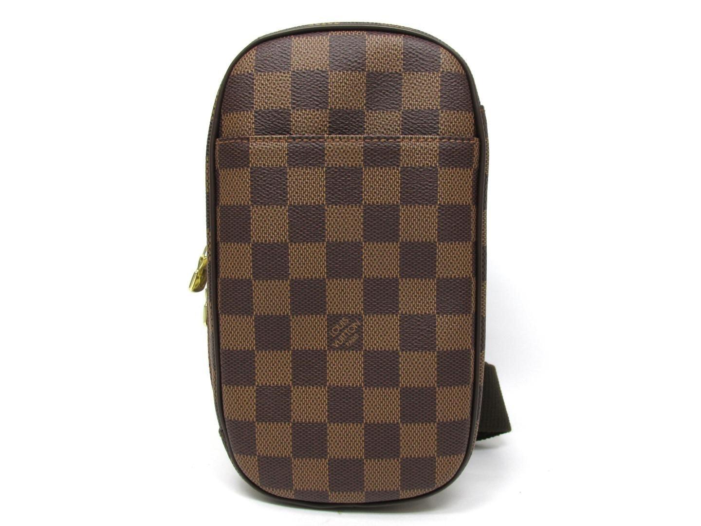 Louis Vuitton Waist Pouch Pochette Gange Damier Ebene Brown