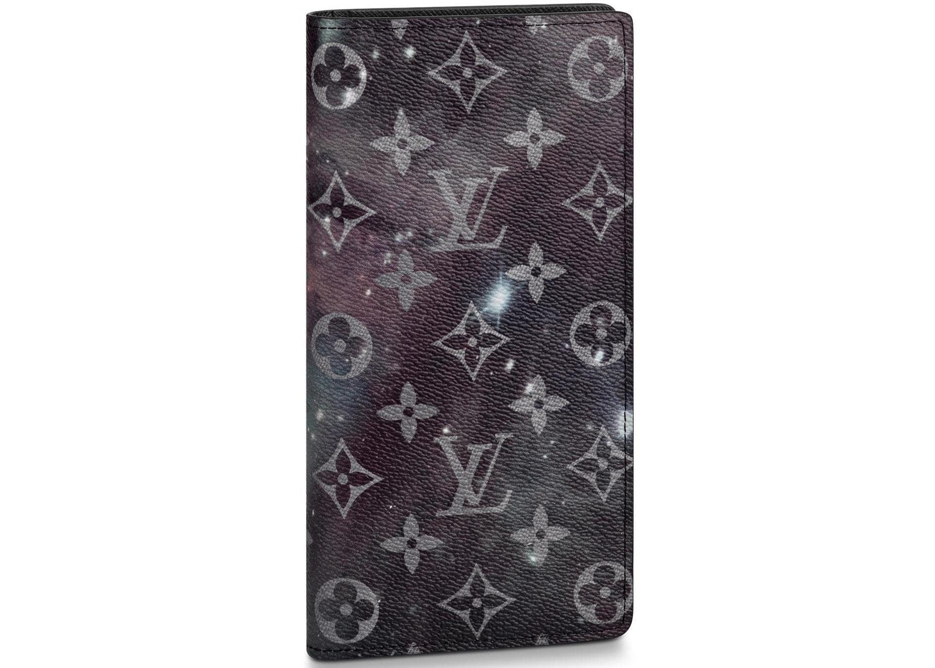Louis Vuitton Wallet Brazza Monogram Galaxy Black Multicolor