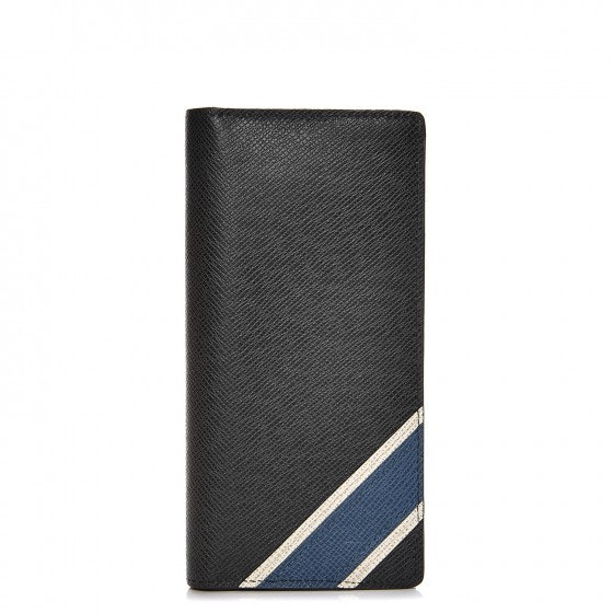 Louis Vuitton Wallet Brazza Stripe Taiga Ardoise