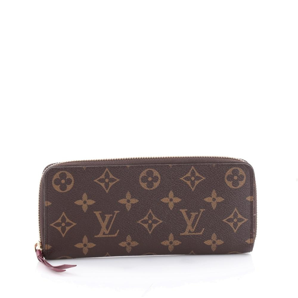 Louis Vuitton Wallet Clemence Monogram Brown/Berry