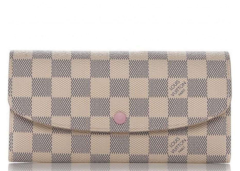 Louis Vuitton Wallet Emilie Damier Azur White/Blue