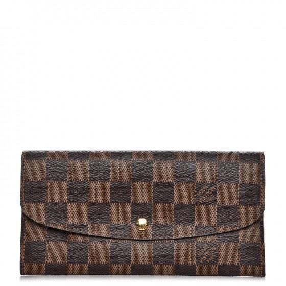 Louis Vuitton Wallet Emilie Damier Ebene Brown