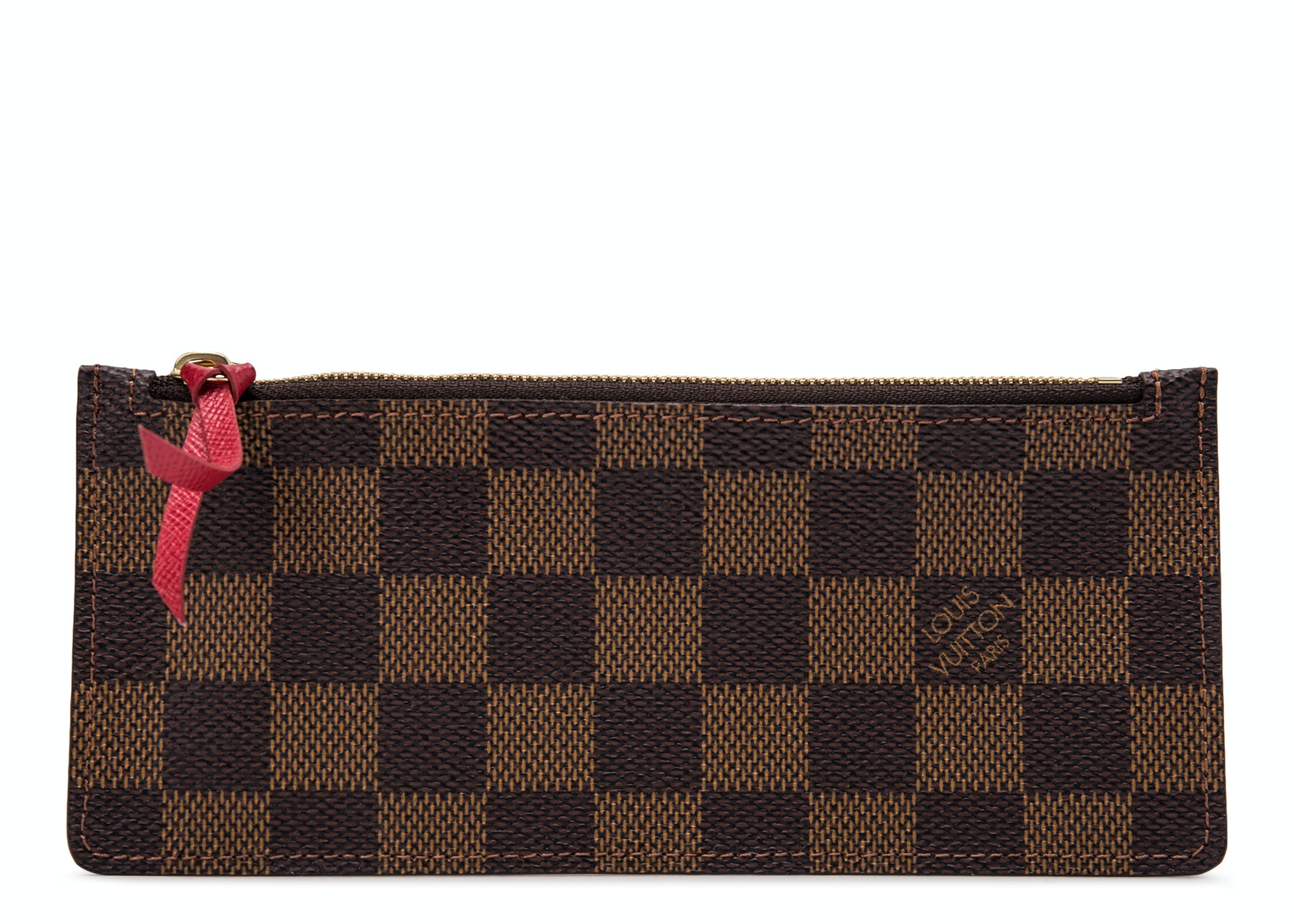Louis Vuitton Wallet Josephine Damier Ebene Zippered Insert Brown/Red
