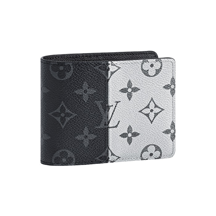 Louis Vuitton Wallet Multiple Monogram Eclipse Split Outdoor Black/White