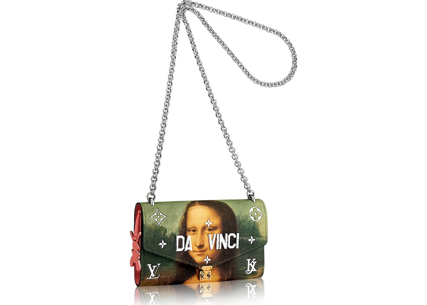 88eec3f864e9 Louis Vuitton Wallet On Chain Leonardo da Vinci Masters Jeff Koons ...