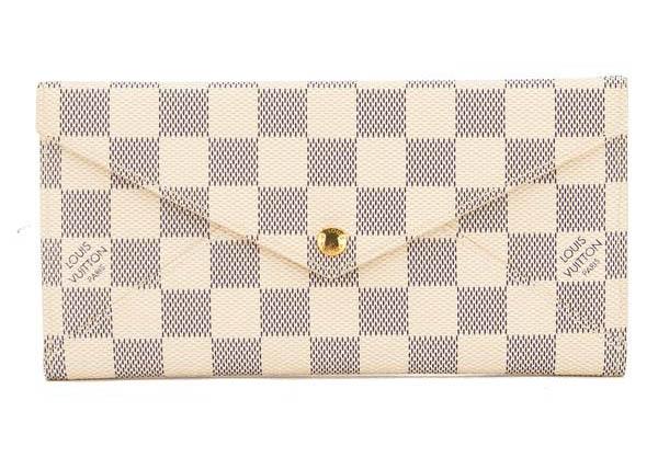 Origami Long Wallet Damier Azur Bluewhite In Whiteblue