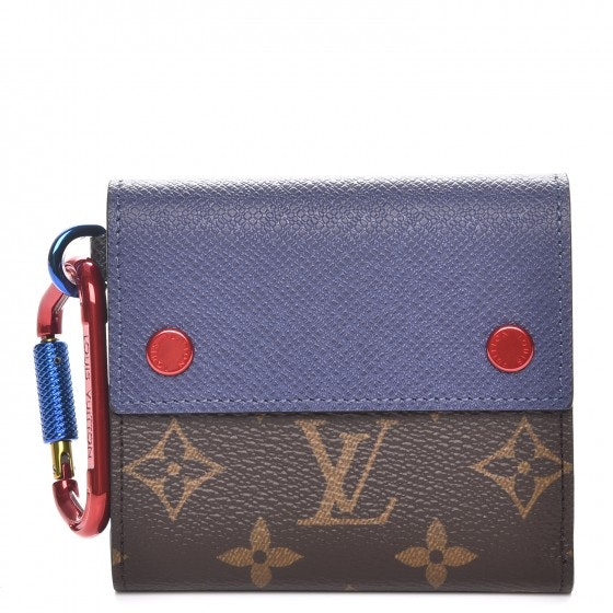Louis Vuitton Wallet Outdoor Compact Monogram Blue/Red/Brown