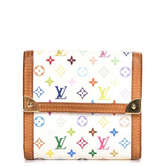 Louis Vuitton Wallet Porte Monnaie Billets Monogram Multicolor Blanc White