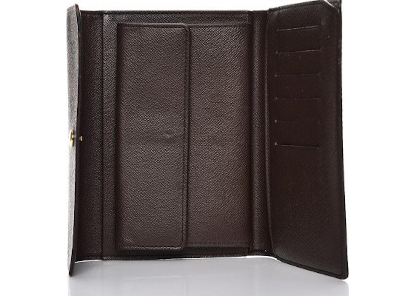 daf194d03fd4d Louis Vuitton Wallet Porte Tresor Etui Papier Damier Ebene Brown