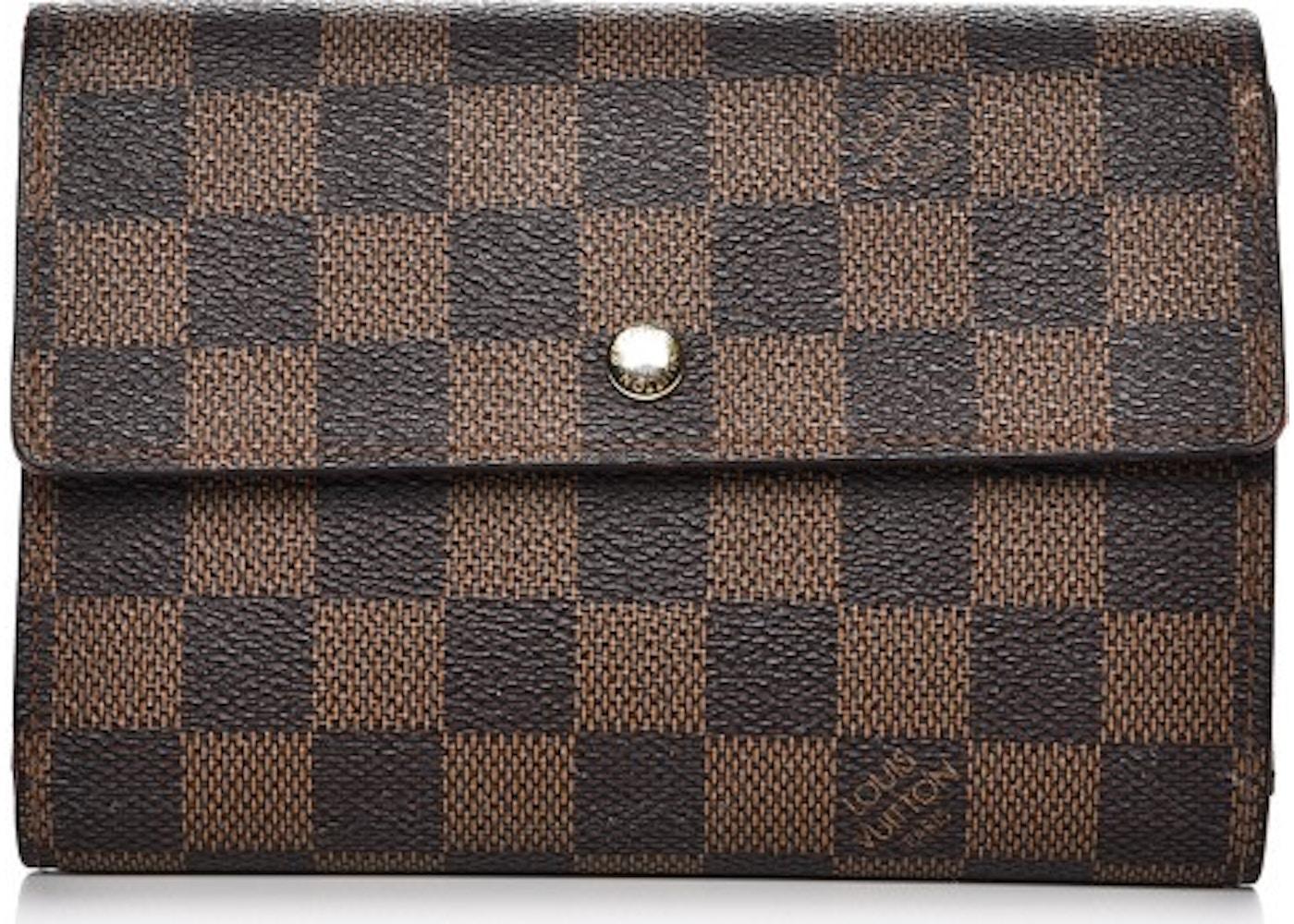 9e458e2e43e68 Louis Vuitton Wallet Porte Tresor Etui Papier Damier Ebene Brown. Damier  Ebene Brown