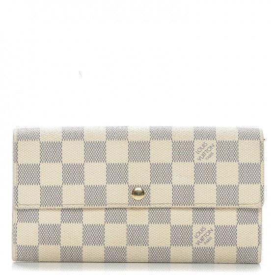 Louis Vuitton Wallet  Sarah Damier Azur White/Blue