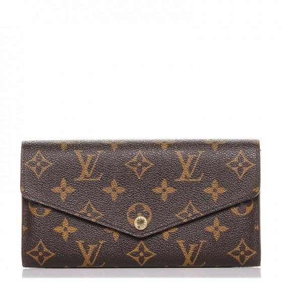 Louis Vuitton Wallet Sarah Monogram Nm Brown Lining