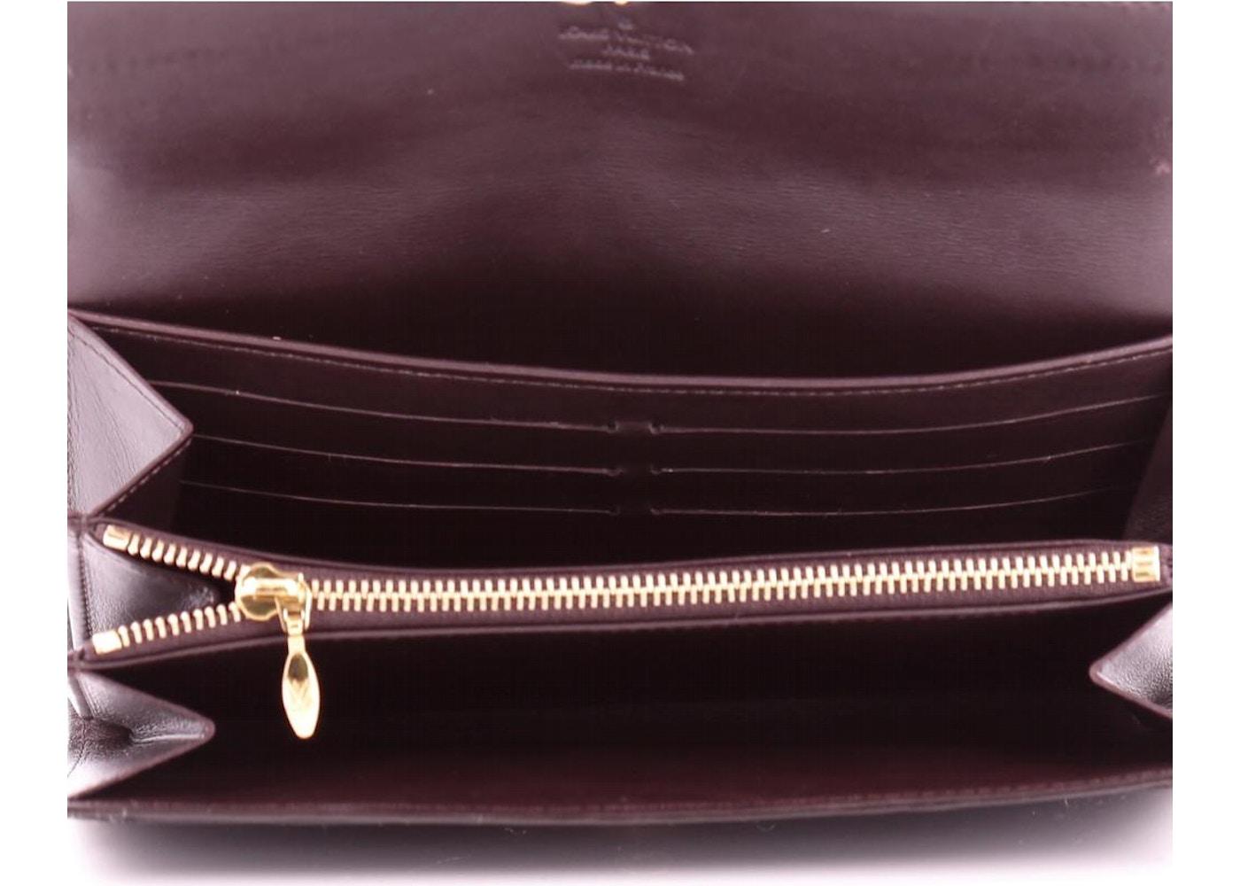 4d1ea1e7bf48 Louis Vuitton Wallet Sarah Monogram Vernis Amarante
