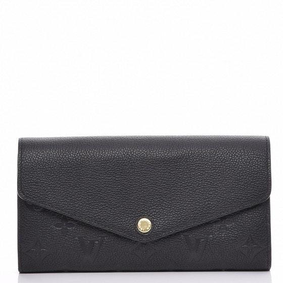 Louis Vuitton Wallet Sarah Monogram Empreinte NM Noir Black