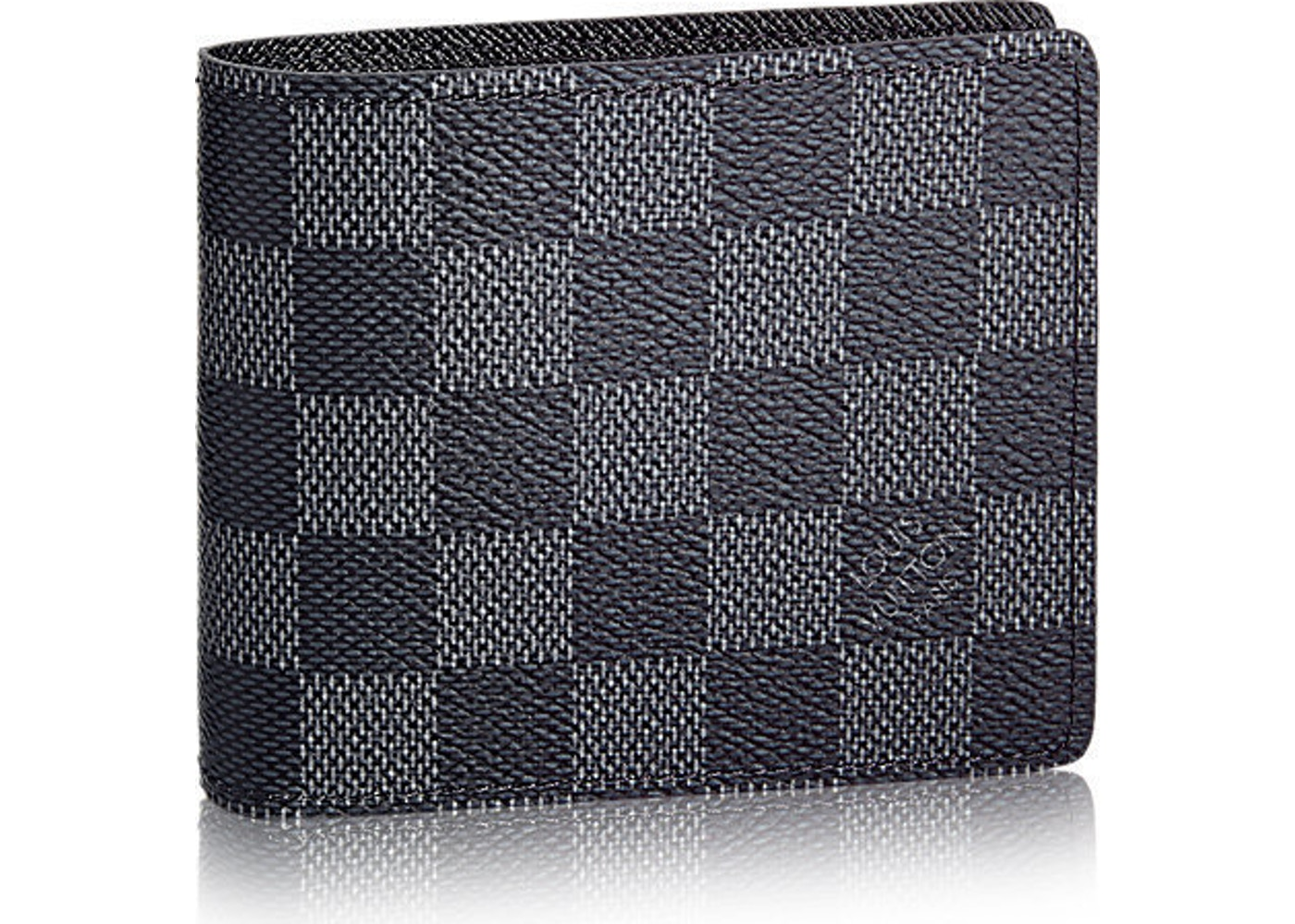 5247cb6a8d04 Louis Vuitton Wallet Slender Damier Graphite Gray Black. Damier Graphite  Gray Black