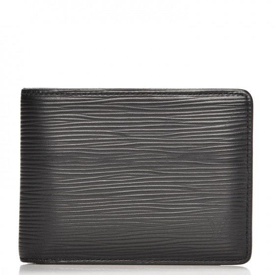 Louis Vuitton Wallet Slender Epi Noir Black