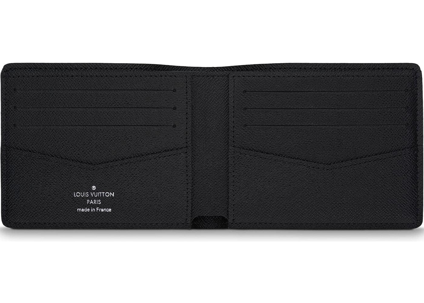 a5ecfba322bc Louis Vuitton Wallet Slender Monogram Eclipse Black Grey