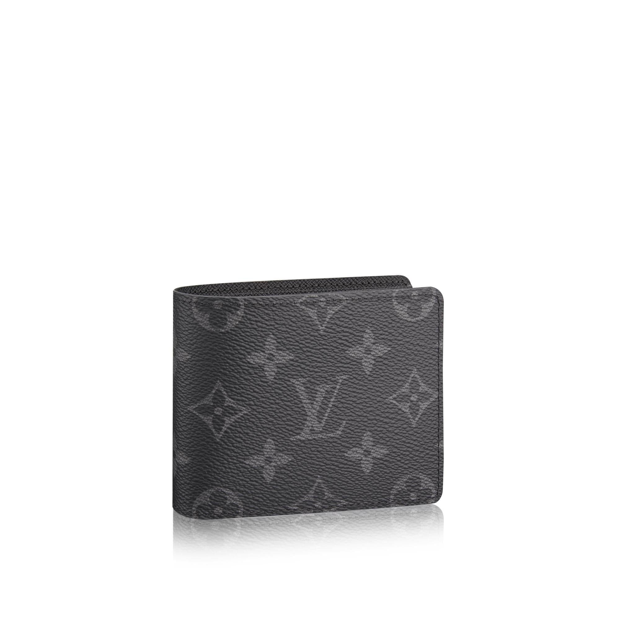 Louis Vuitton Wallet Slender Monogram Eclipse Black/Grey