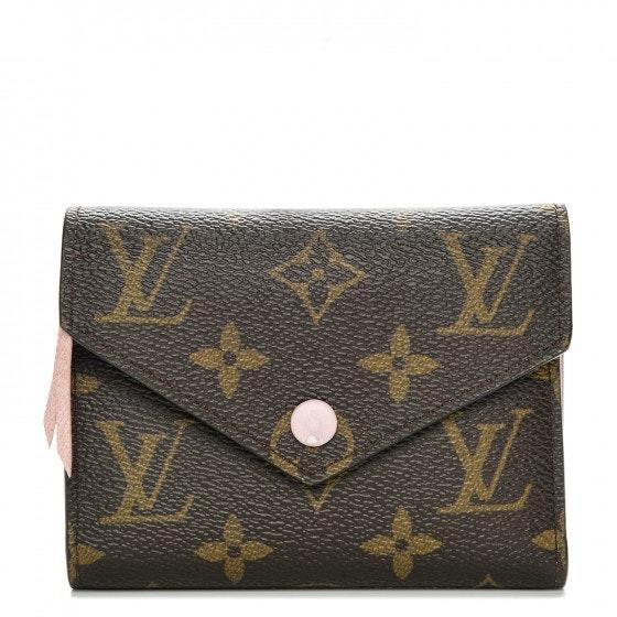 Louis Vuitton Wallet Victorine Monogram Brown/Rose Ballerine
