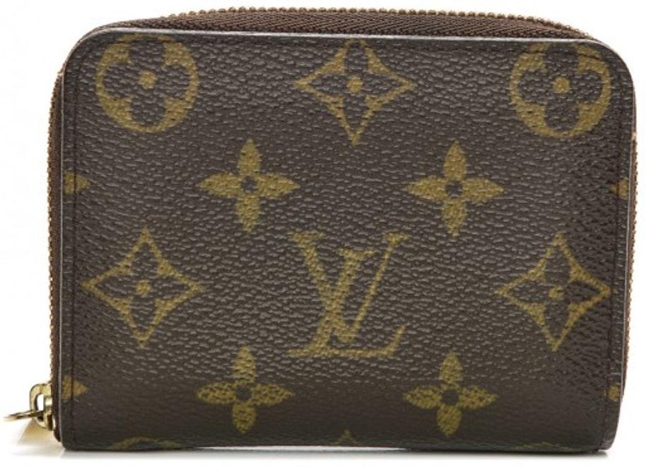 Louis Vuitton Wallet Zippy Coin Purse Monogram Brown