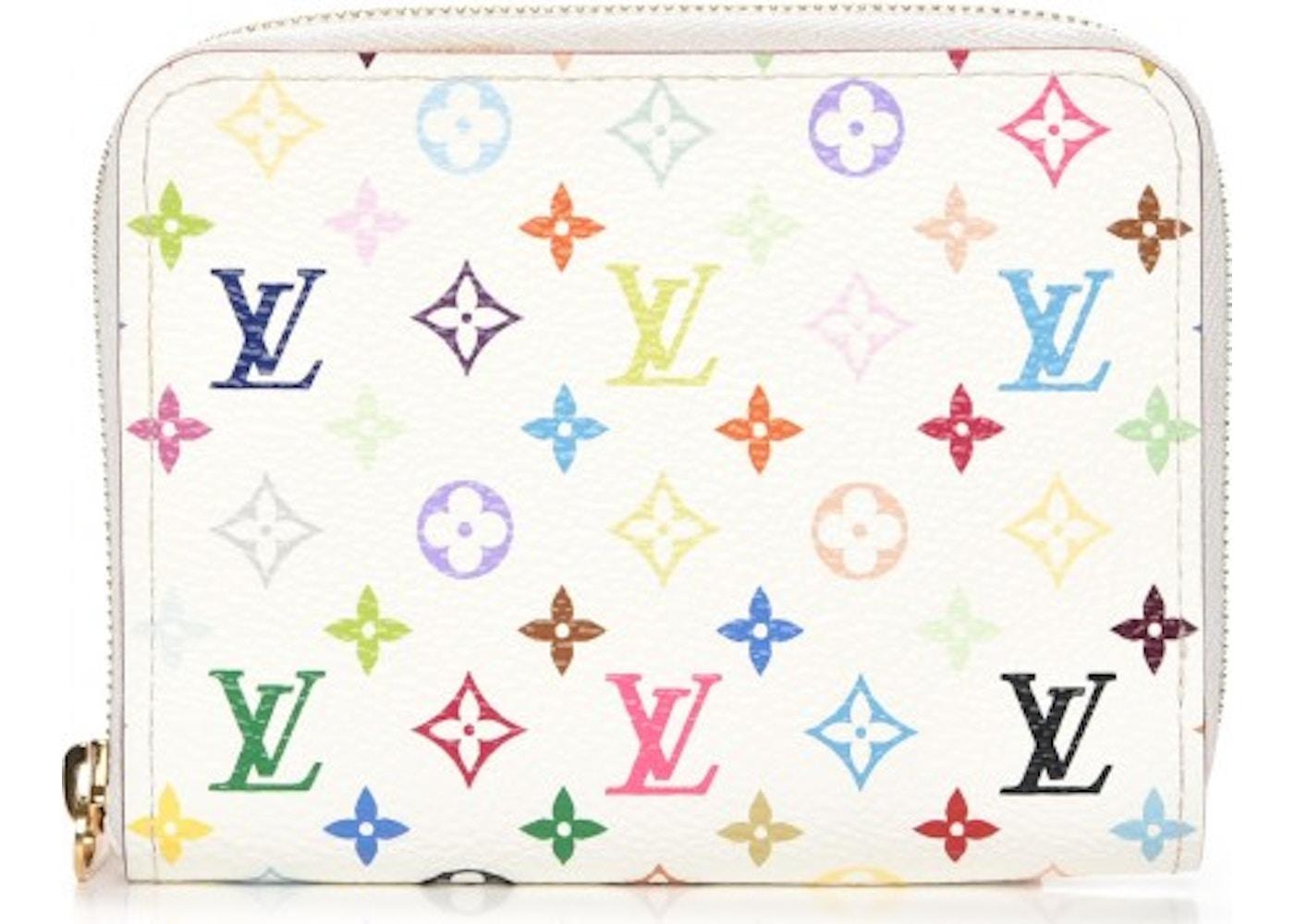69077ddd6a82 Louis Vuitton Wallet Zippy Coin Purse Monogram Multicolor White Litchi