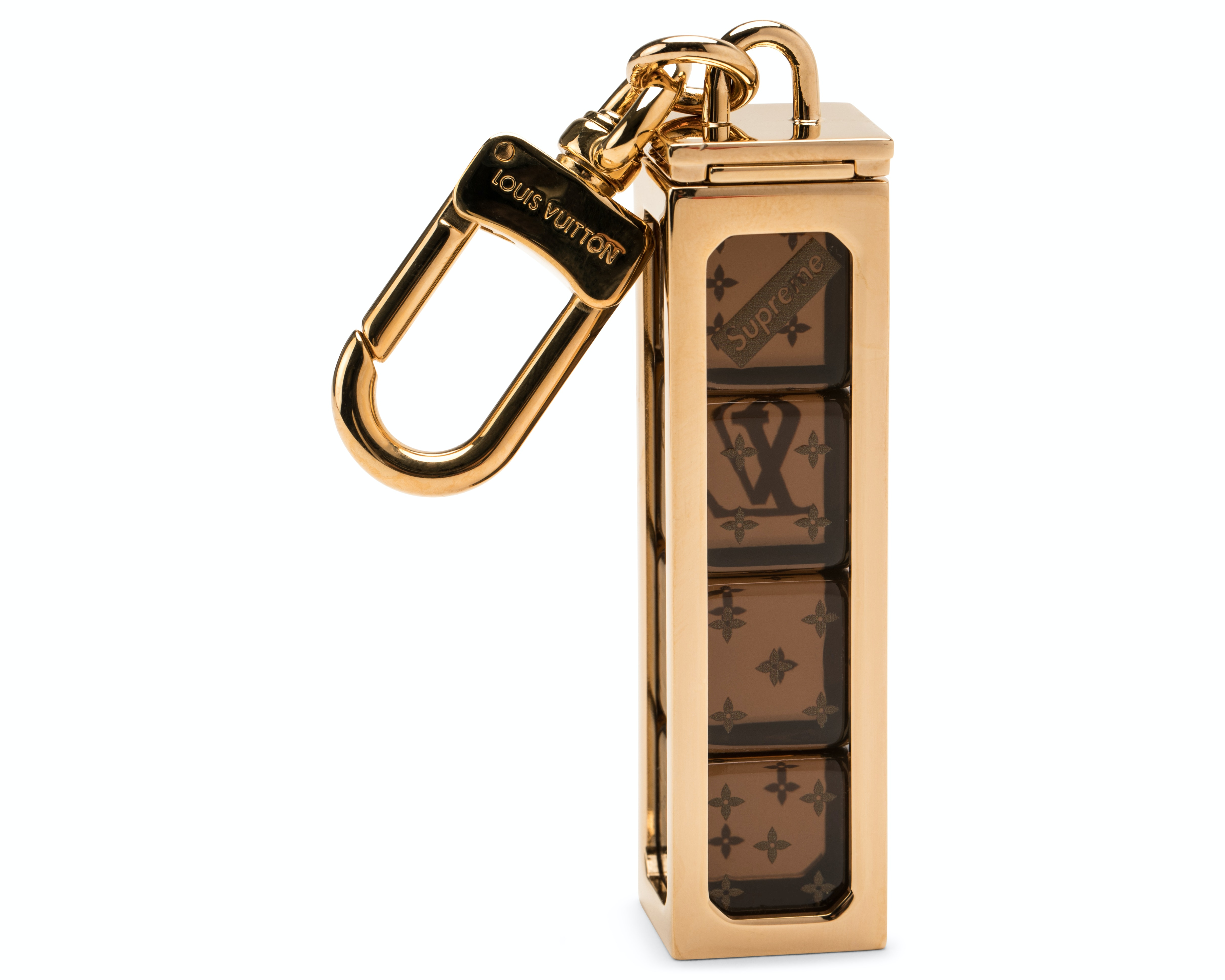 Louis Vuitton x Supreme Dice Key Chain Brass