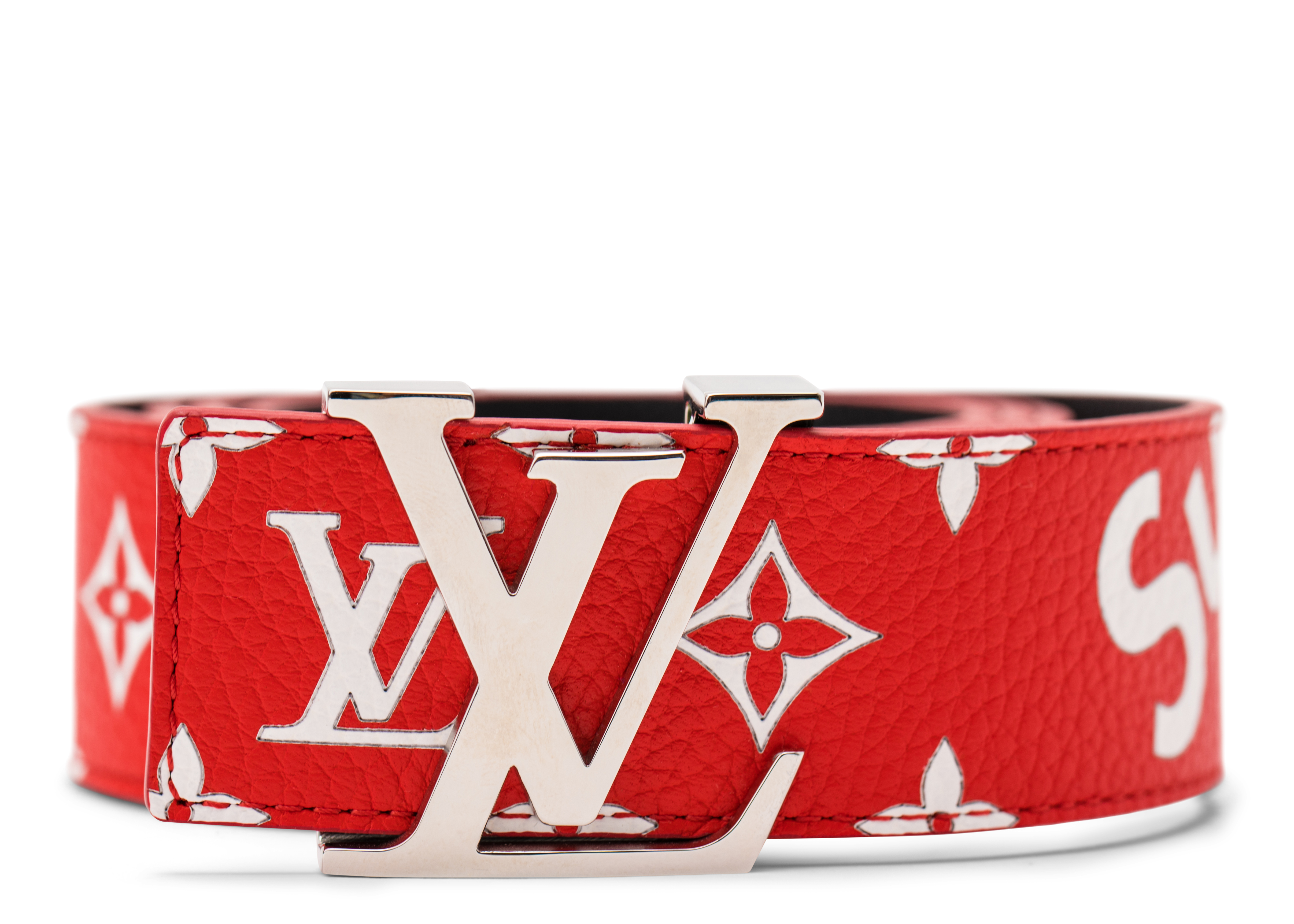Louis Vuitton x Supreme Initiales Belt 40 MM Monogram Red