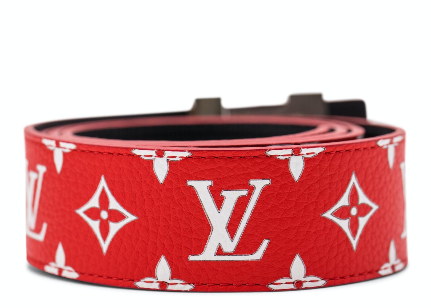 85ce42dec8da Louis Vuitton x Supreme Initiales Belt 40 MM Monogram Red