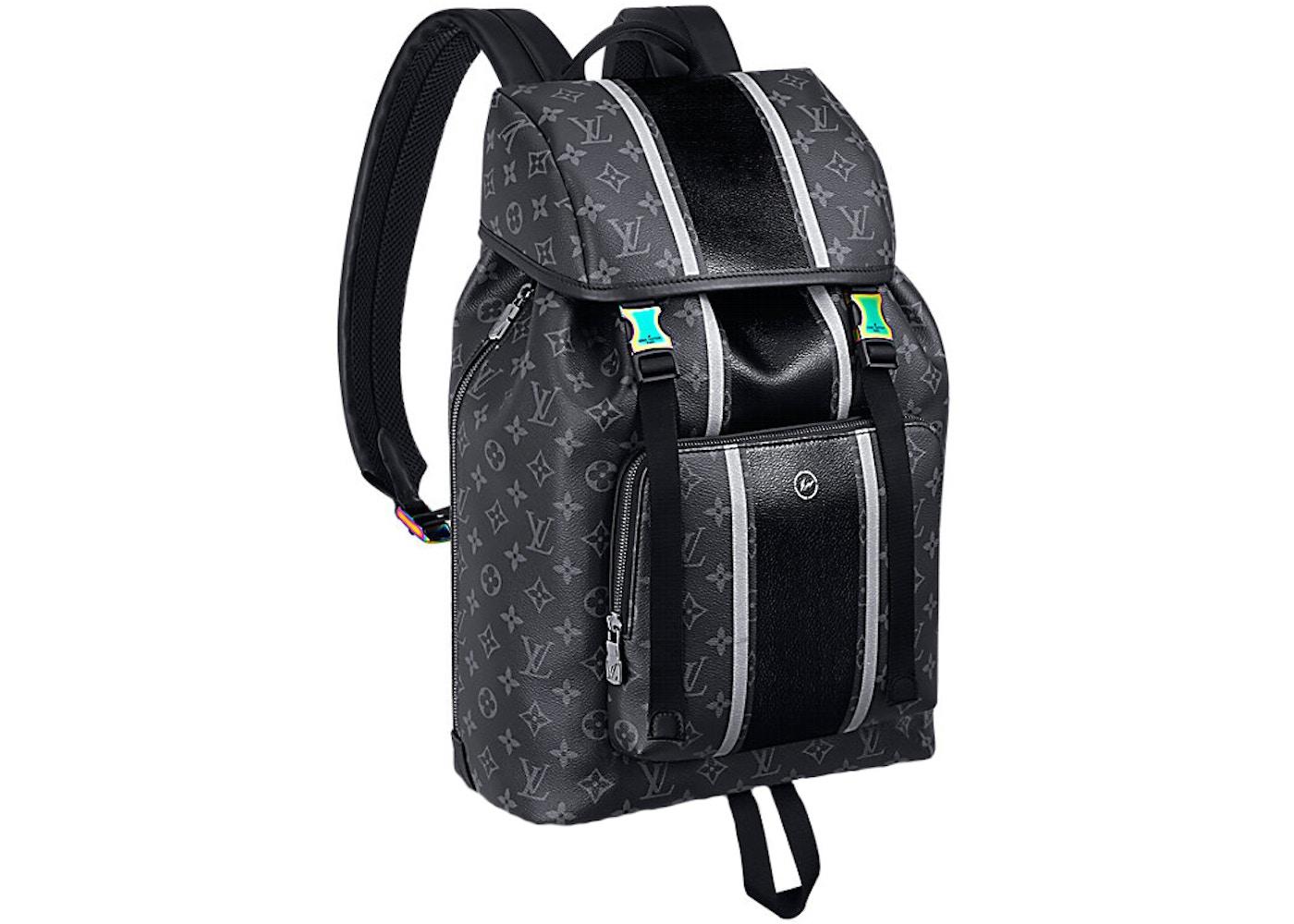 ... Louis Vuitton x Fragment Zack Backpack Monogram Eclipse Blac ... c6171ab945e71