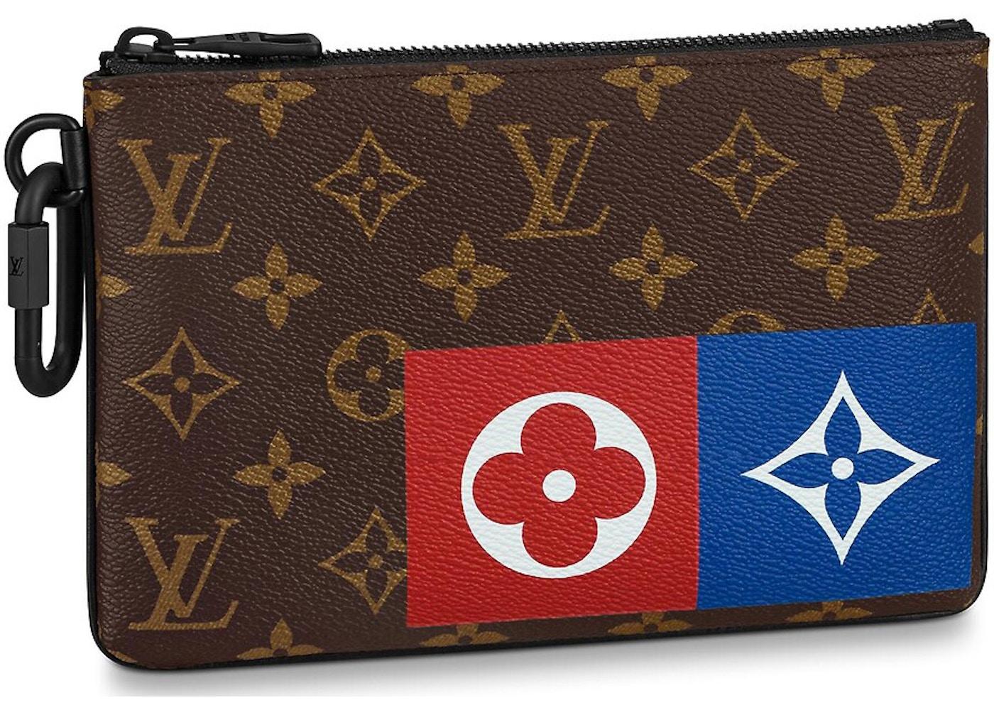 b312b6b45f Louis Vuitton Zipped Pouch Monogram Logo Story MM Brown