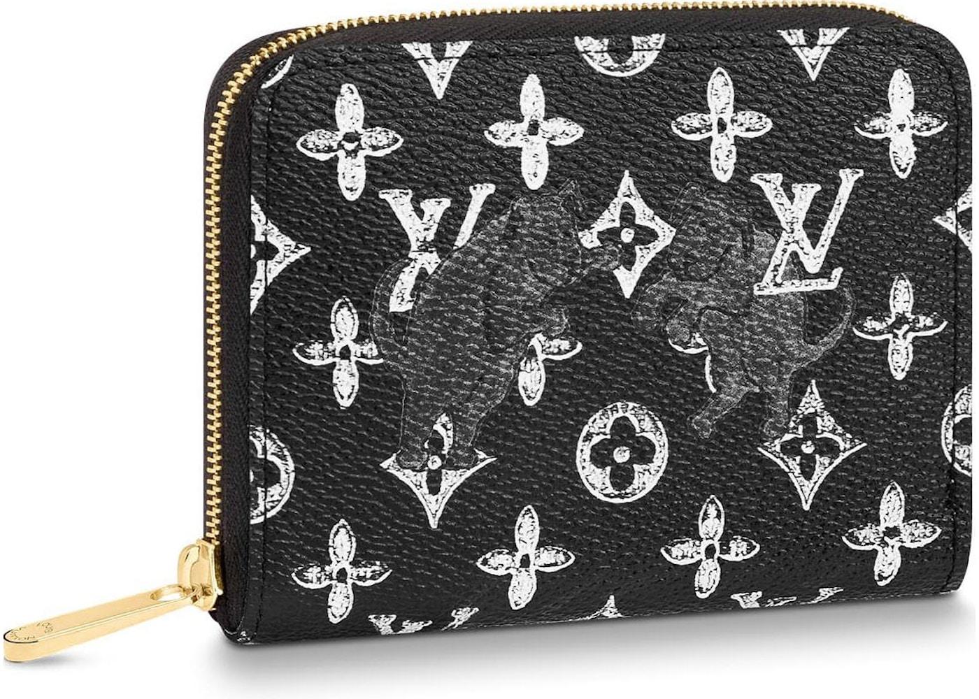 b5813e3b6e68 Louis Vuitton Zippy Coin Purse Monogram Catogram Black White. Monogram  Catogram Black White