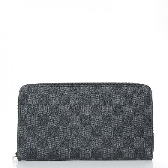 Louis Vuitton Wallet Zippy Organizer Damier Graphite