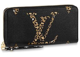 Louis Vuitton Zippy Wallet Monogram Giant Jungle Black Multicolor