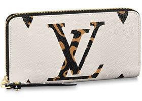 Louis Vuitton Zippy Wallet Monogram Giant Jungle Ivory Beige Multicolor
