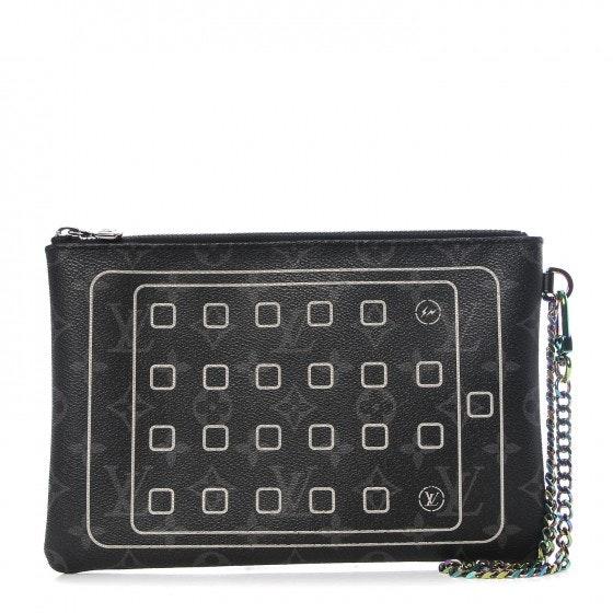 Louis Vuitton x Fragment iPad Pouch Monogram Eclipse Black