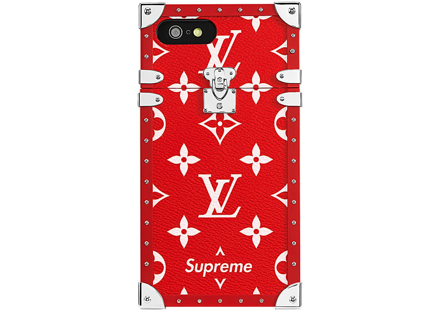 louis vuitton x supreme iphone 7 eye trunk red. Black Bedroom Furniture Sets. Home Design Ideas