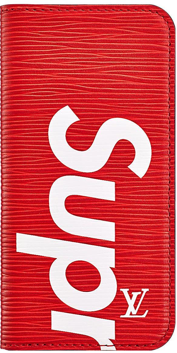Louis Vuitton x Supreme iPhone 7 Folio Epi Red