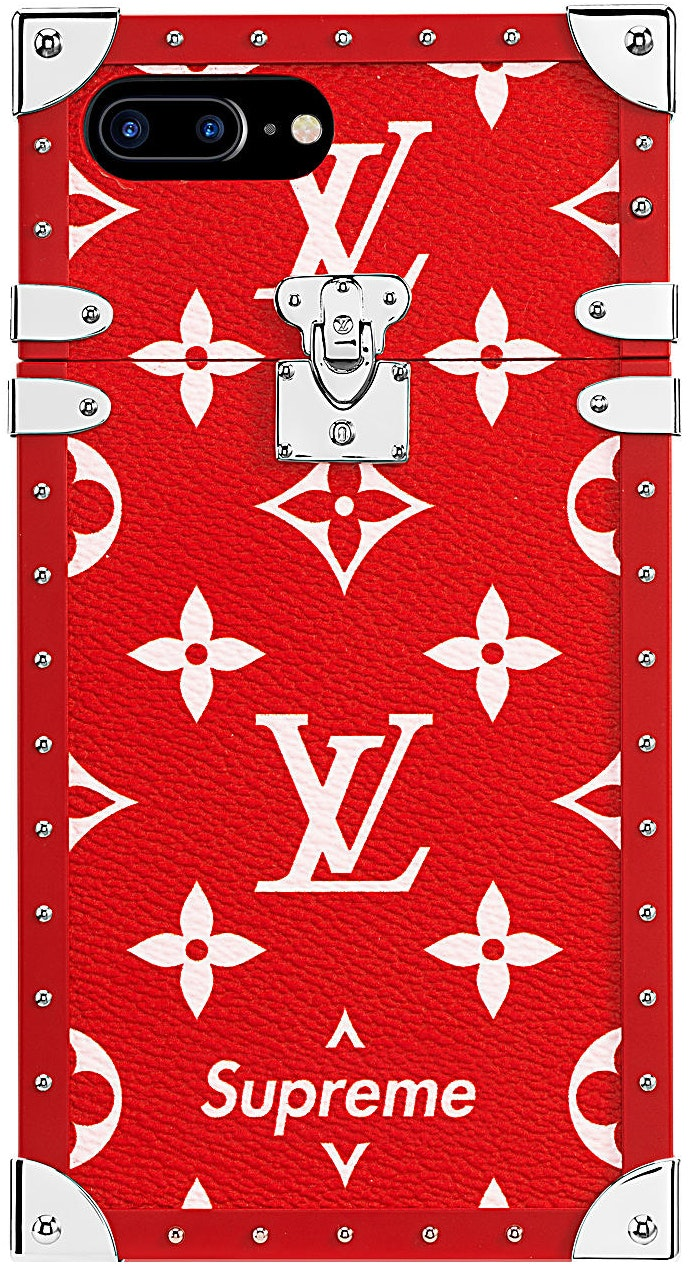 louis vuitton x supreme iphone 7 plus eye trunk redsell or ask view all bids louis vuitton x supreme iphone 7 plus