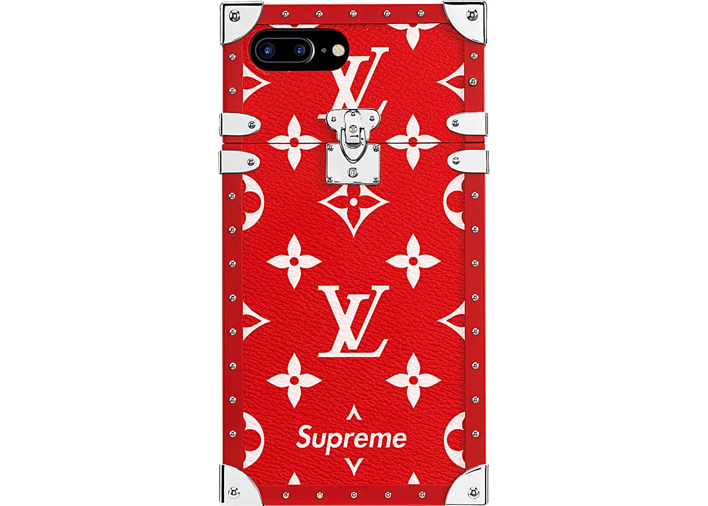 best sneakers a0bf1 d457d Louis Vuitton x Supreme iPhone 7 Plus Eye Trunk Red