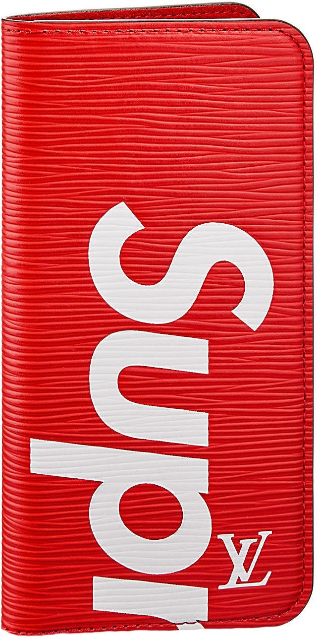 Louis Vuitton x Supreme iPhone 7 Plus Folio Epi Red