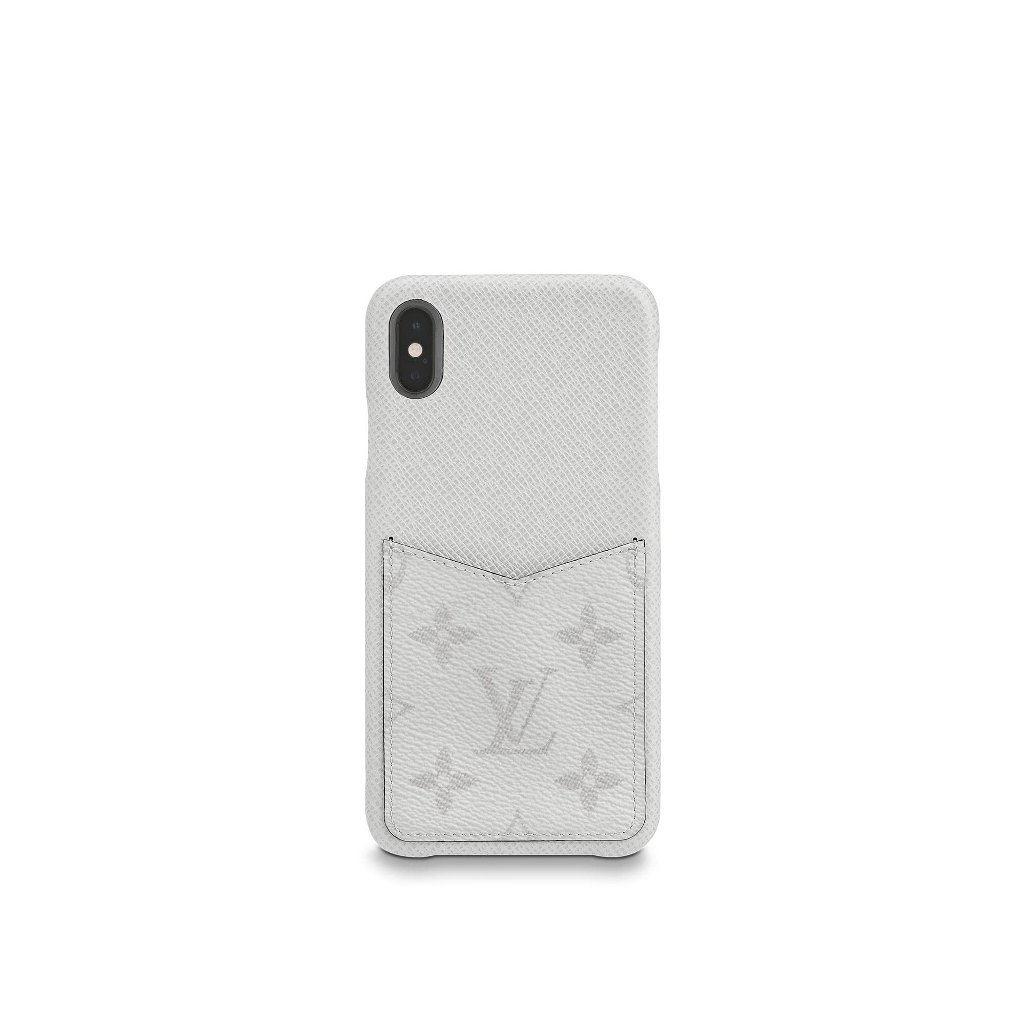 Louis Vuitton iPhone Case Monogram Antarctica Taiga XS MAX White