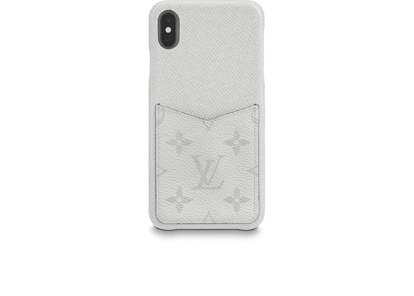 online retailer bc0ca 16aa5 Louis Vuitton iPhone Case Monogram Antarctica Taiga XS MAX White