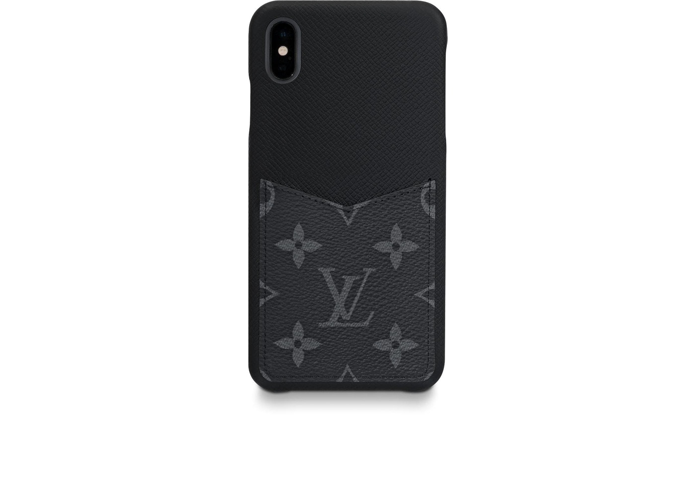 sale retailer 0b7eb 0f04b Louis Vuitton iPhone Case Monogram Eclipse XS MAX Black