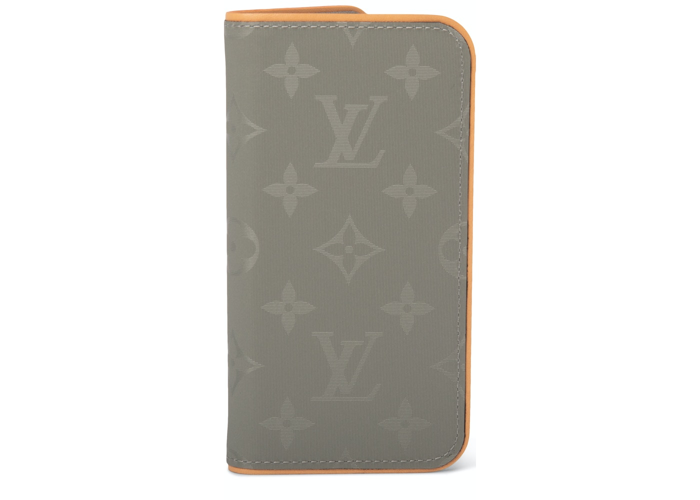 purchase cheap 4a446 c1573 Louis Vuitton iPhone X Folio Case Monogram Grey