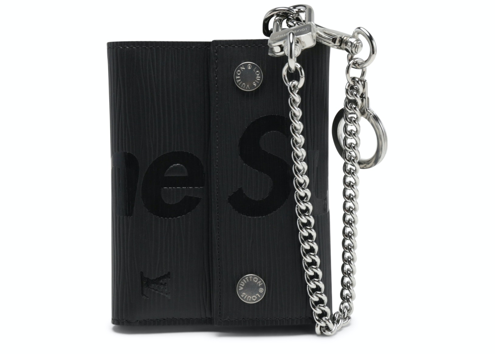 Louis Vuitton x Supreme Chain Wallet Epi Black