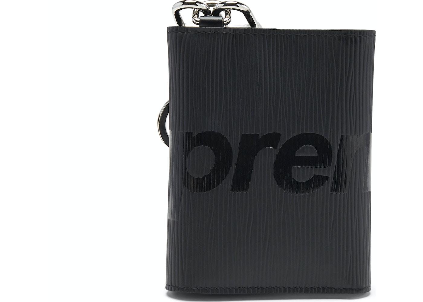 b2c20aca42ab Louis Vuitton x Supreme Chain Wallet Epi Black