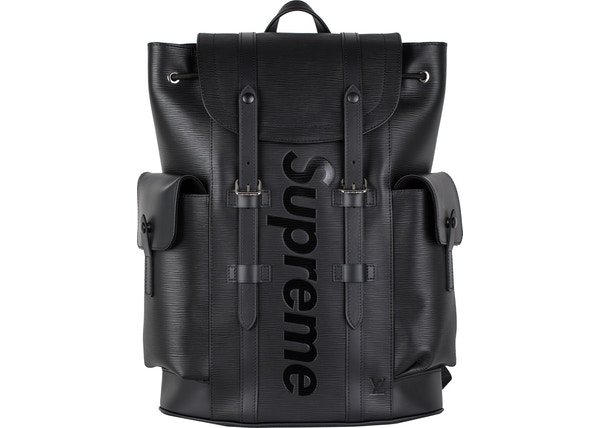6012f77a7424 Louis Vuitton x Supreme Christopher Backpack Epi PM Black