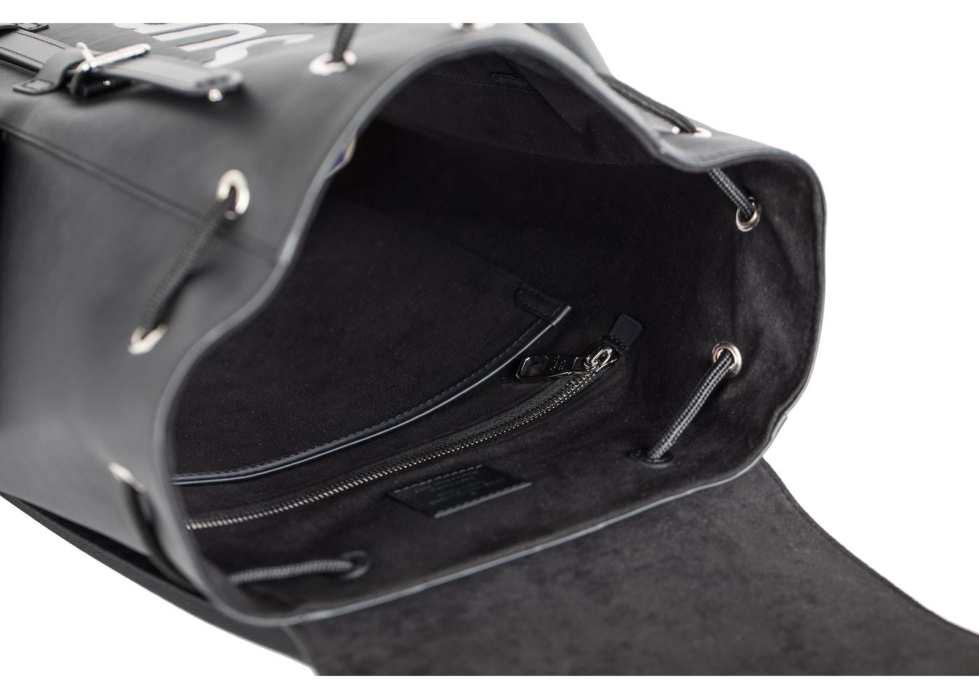 bb178f4fdb6a Louis Vuitton x Supreme Christopher Backpack Epi PM Black