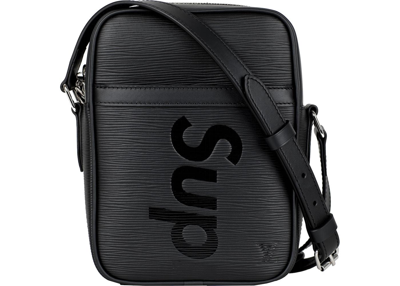 famosa marca de diseñador grande descuento venta Precio de fábrica 2019 Louis Vuitton x Supreme Danube Epi PM Black